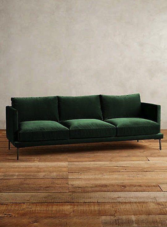 The Hunt for a Non-Velvet Green Sofa | Shopping Guides | Green sofa