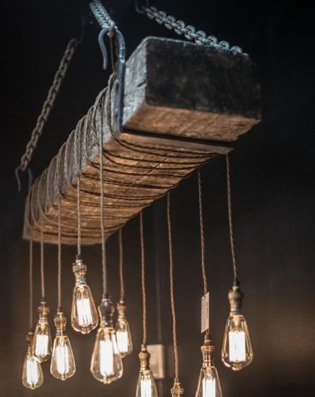 Vintage Lighting 120 year old bespoke hand made railway sleep light