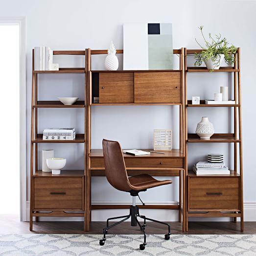 Mid-Century Wall Desk + Shelf Set - Narrow | west elm