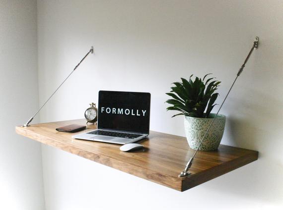 Industrial Desk Hanging Wall Desk | Etsy