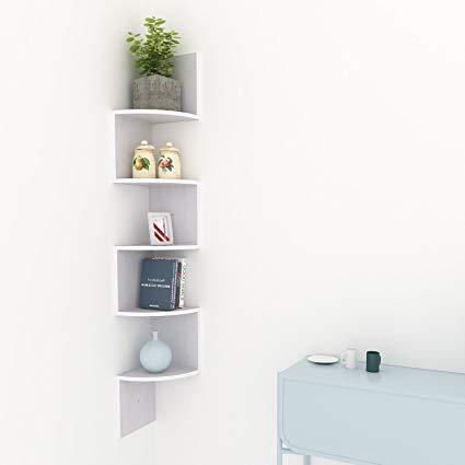 Amazon.com: Homevol Corner Shelf, 5 Tier Wood Wall Mount Corner