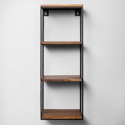 Decorative Wall Shelf Black/Wood - Hearth & Hand™ With Magnolia : Target