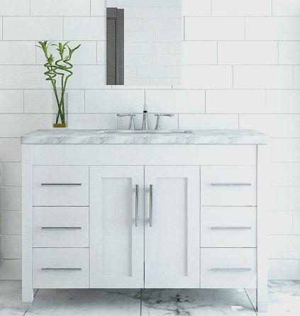 White & Ivory Bathroom Vanities - Bathgems - Bathgems.com