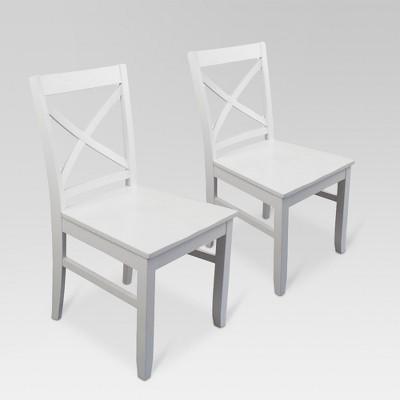 Carey Dining Chair - White (Set Of 2) - Threshold™ : Target