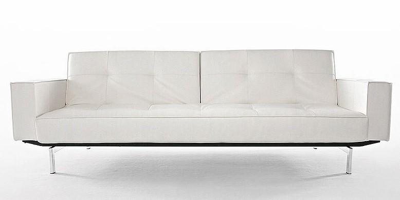 Karina White Deluxe Modern Sleeper Sofa   Modern Convertible Sofa