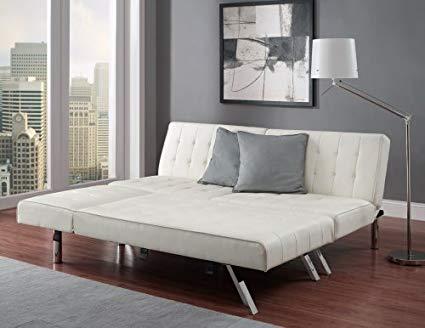 Amazon.com: Modern Sofa Bed Sleeper Faux Leather Convertible Sofa