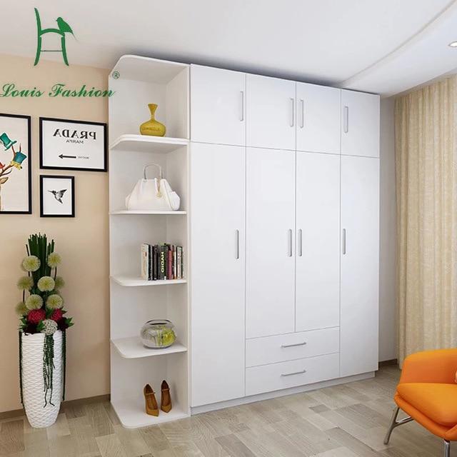 Louis Fashion Simple Modern Economy Bedroom, Wooden Four Big White