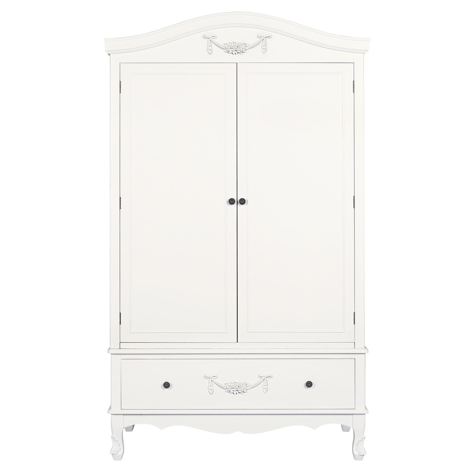 Toulouse White Double Wardrobe | Dunelm