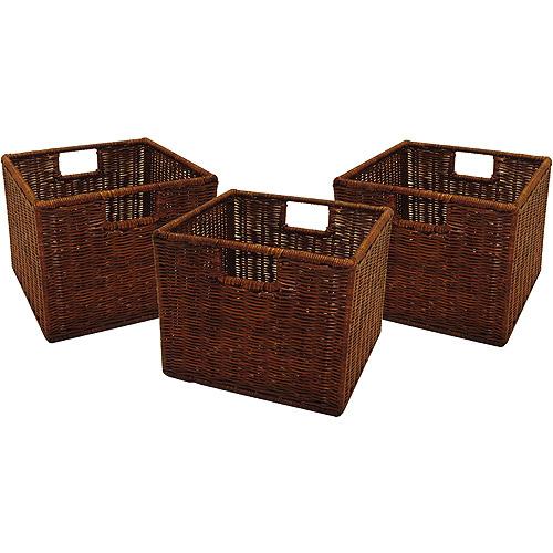 Generic Wicker Baskets - Set of 3 - Walmart.com