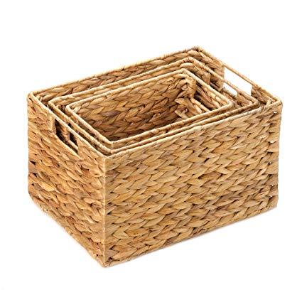 Amazon.com: Wicker Baskets For Storage, Stackable Organizer Bins
