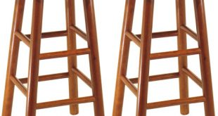 Winsome Wood Tabby 30u201d Beveled Seat Stools, 2-PC, Multiple Finishes