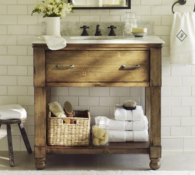 Small Rustic Bathroom Vanities Ideas | powder room ideas | Pinterest