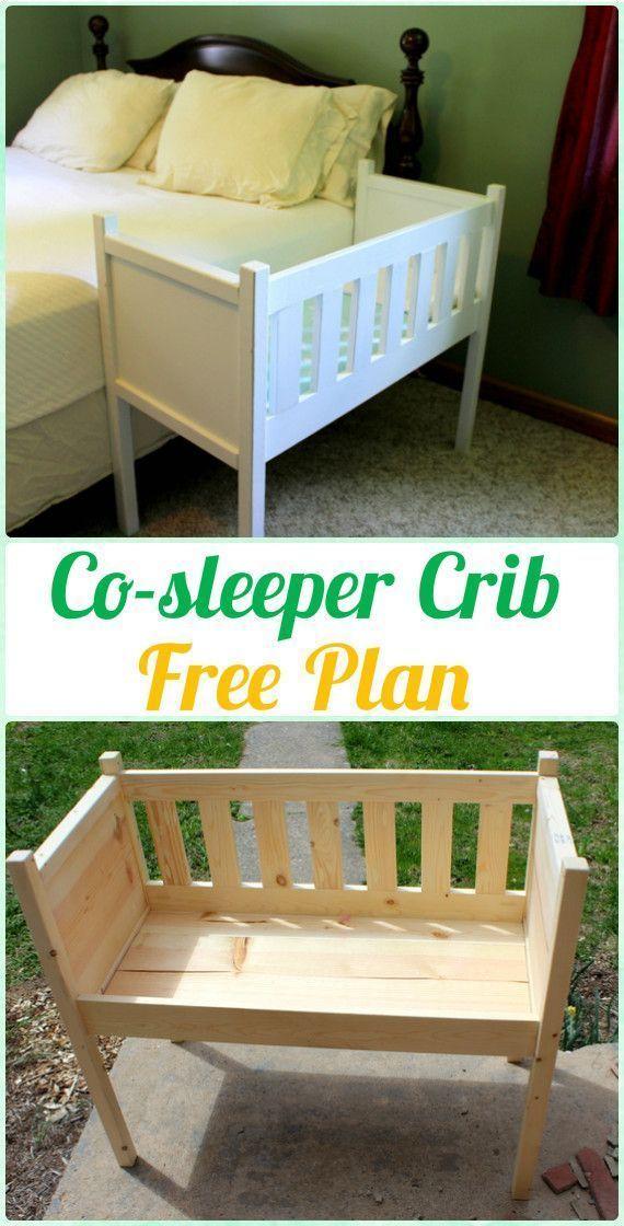 DIY Co-sleeper Crib Instruction – DIY Baby Crib Projects [Fr