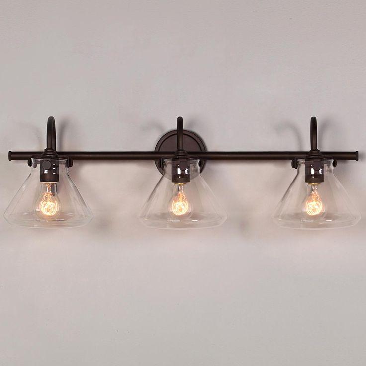 Beaker Glass Bath Light - 3 Light