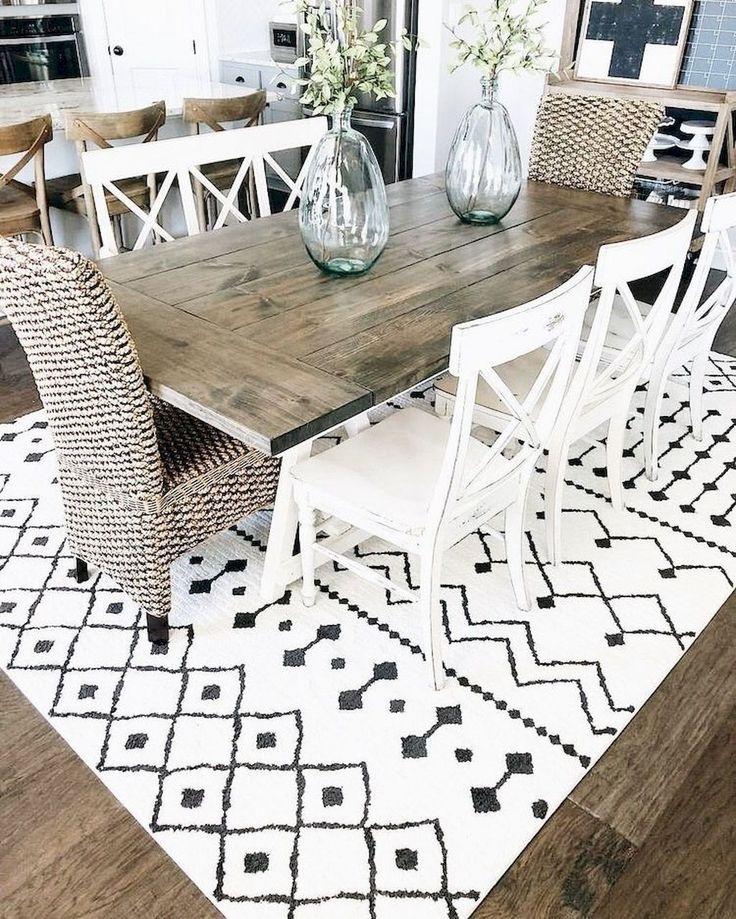 80+ Stunning Rustic Farmhouse Dining Room Set Furniture Ideas