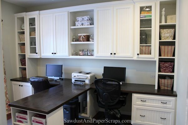 Home Office with Built-in Work Stations