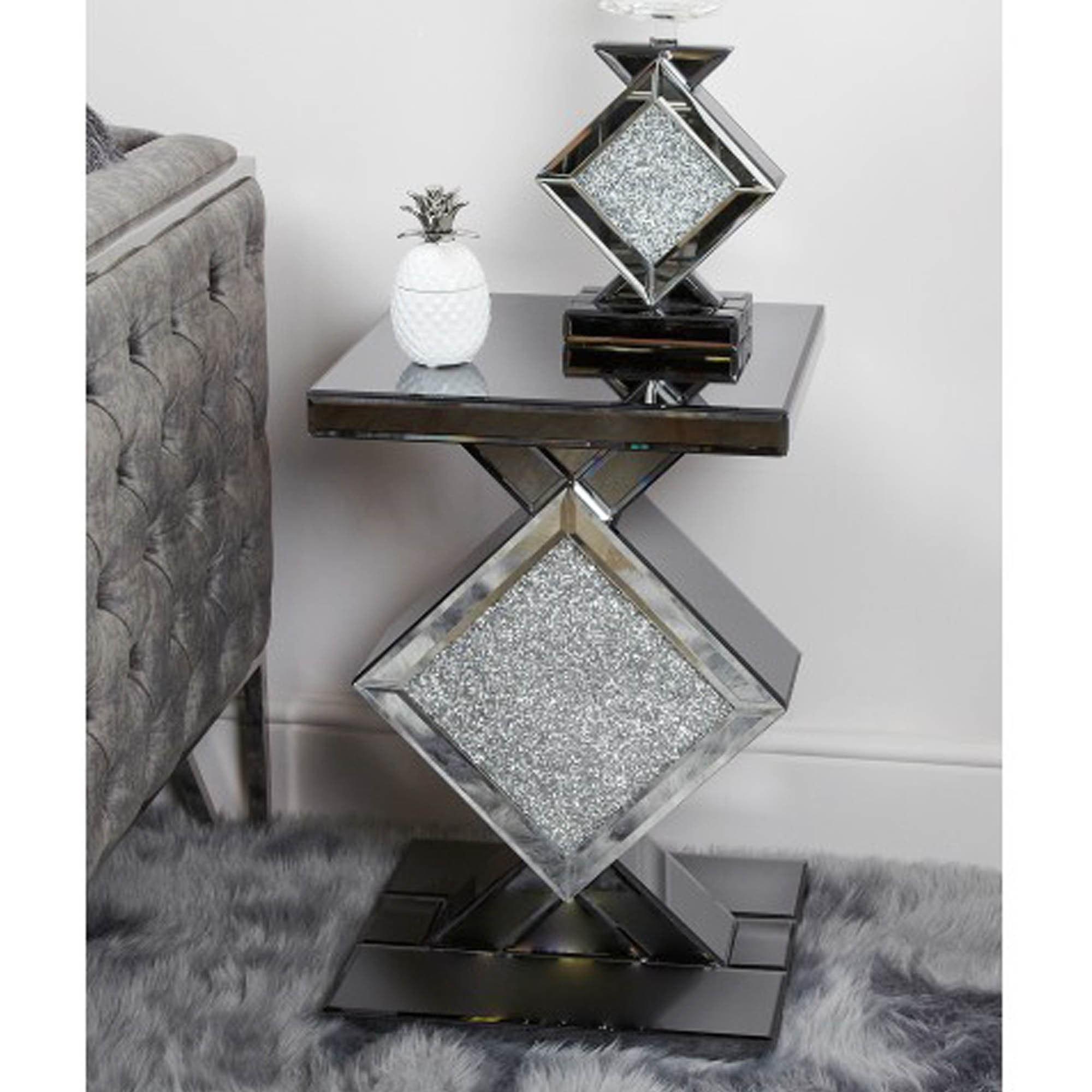 Elegant Mirror End Tables