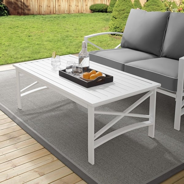 Nice white coffee table for home and patio