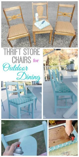 How to Turn Thrift Store Finds into an Outdoor Dining Set