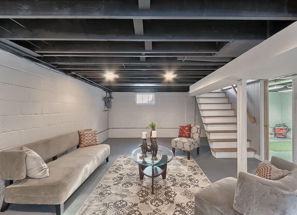 The simplest basement ceiling ideas