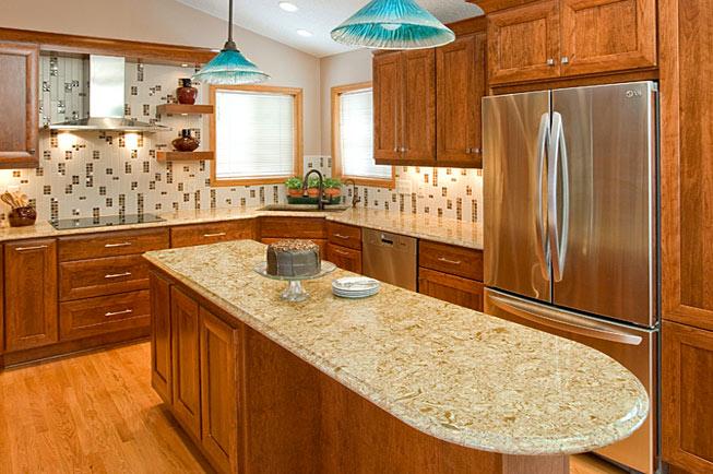 Versatile and beautiful cherry kitchen cabinets