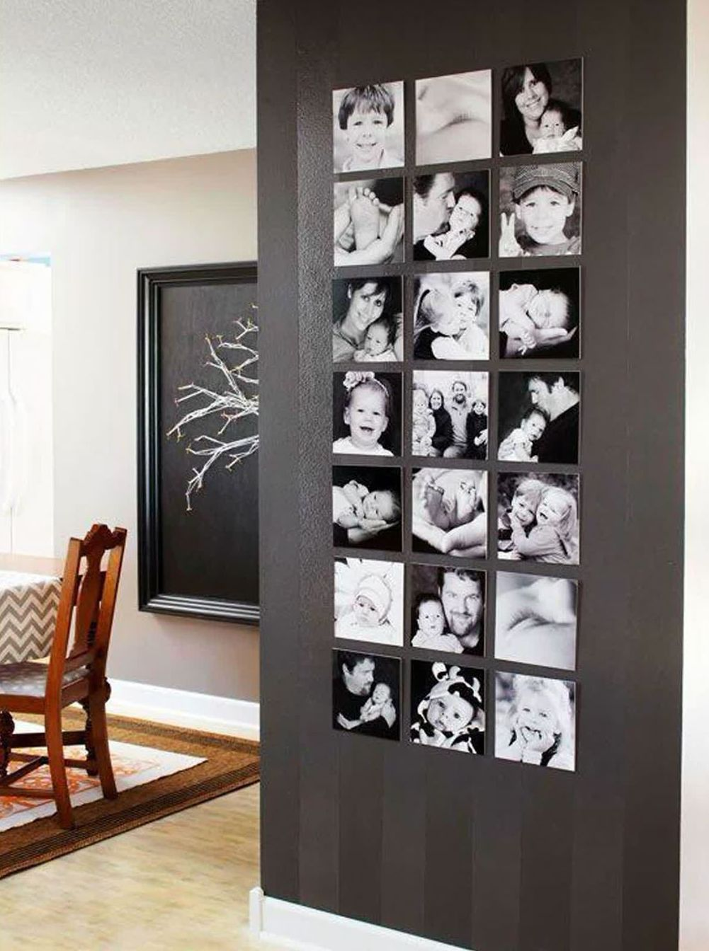 Where can you use black and white wall art?
